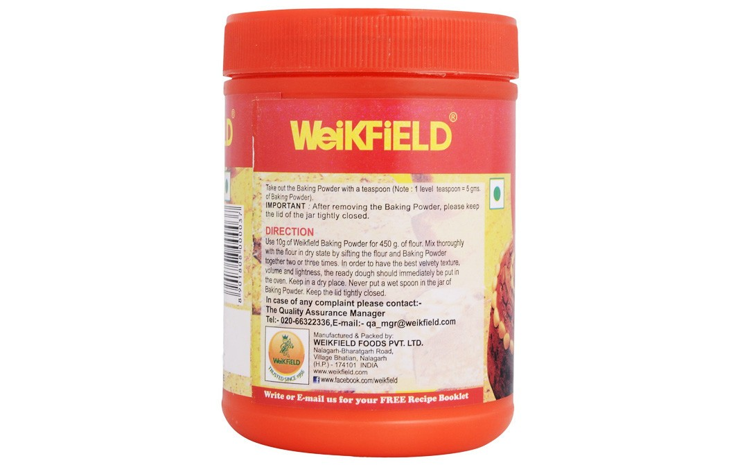 Weikfield Baking Powder (Double Action)   Plastic Jar  100 grams