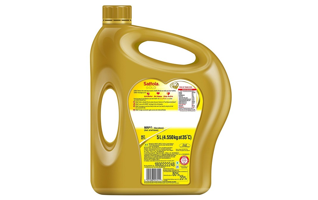 Saffola Gold Pro Healthy Lifestyle   Can  5 litre
