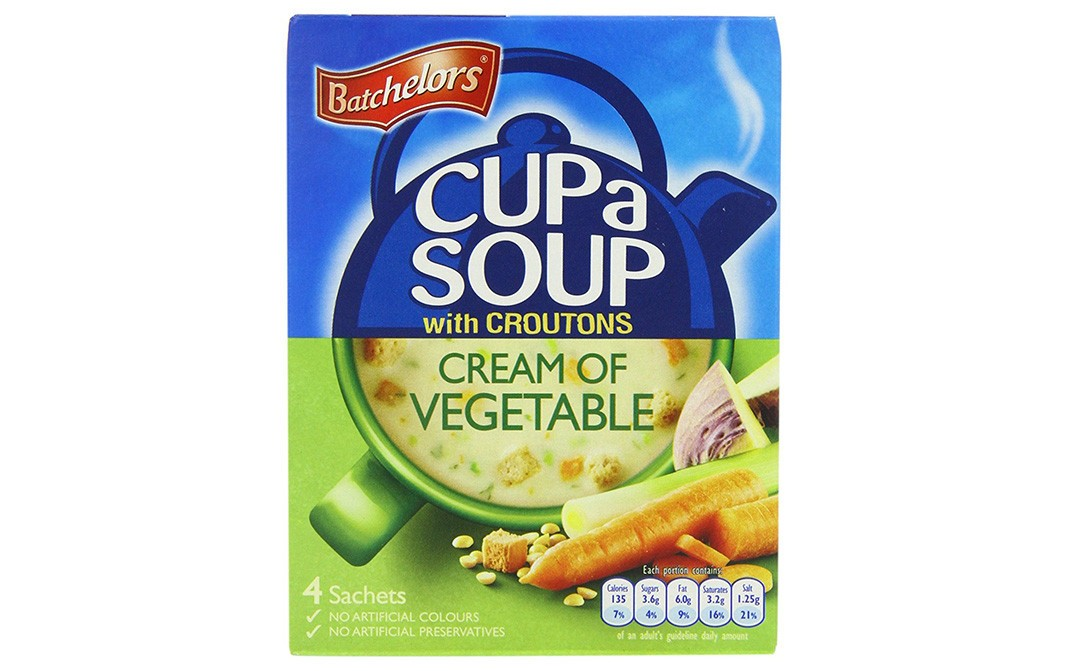 Batchelors Cup a Soups With Croutons Cream Of Vegetable   Box  122 grams