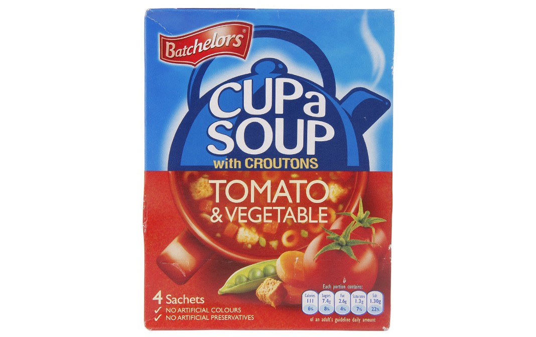 Batchelors Cup a Soup with Croutons Tomato & Vegetable   Box  104 grams