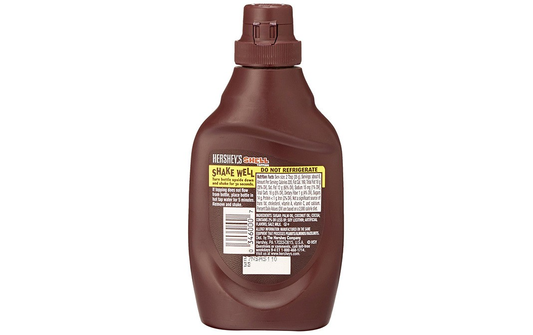 Hershey's Shell Topping Chocolate Flavored   Plastic Bottle  205 grams