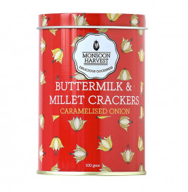 Monsoon Harvest Buttermilk & Millet Crackers, Caramelised Onion  100 grams