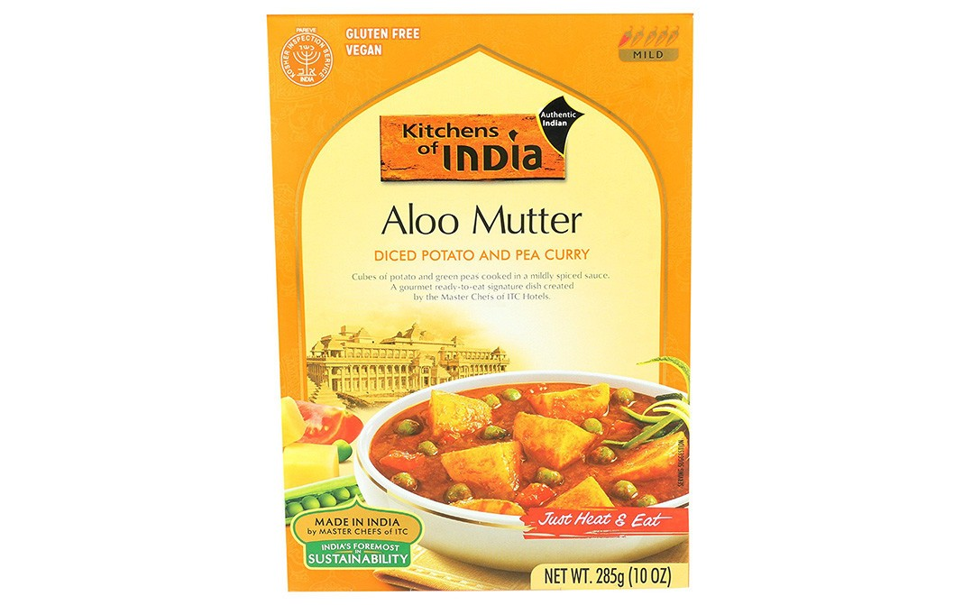 Kitchens Of India Aloo Mutter Diced Potato And Pea Curry   Box  285 grams