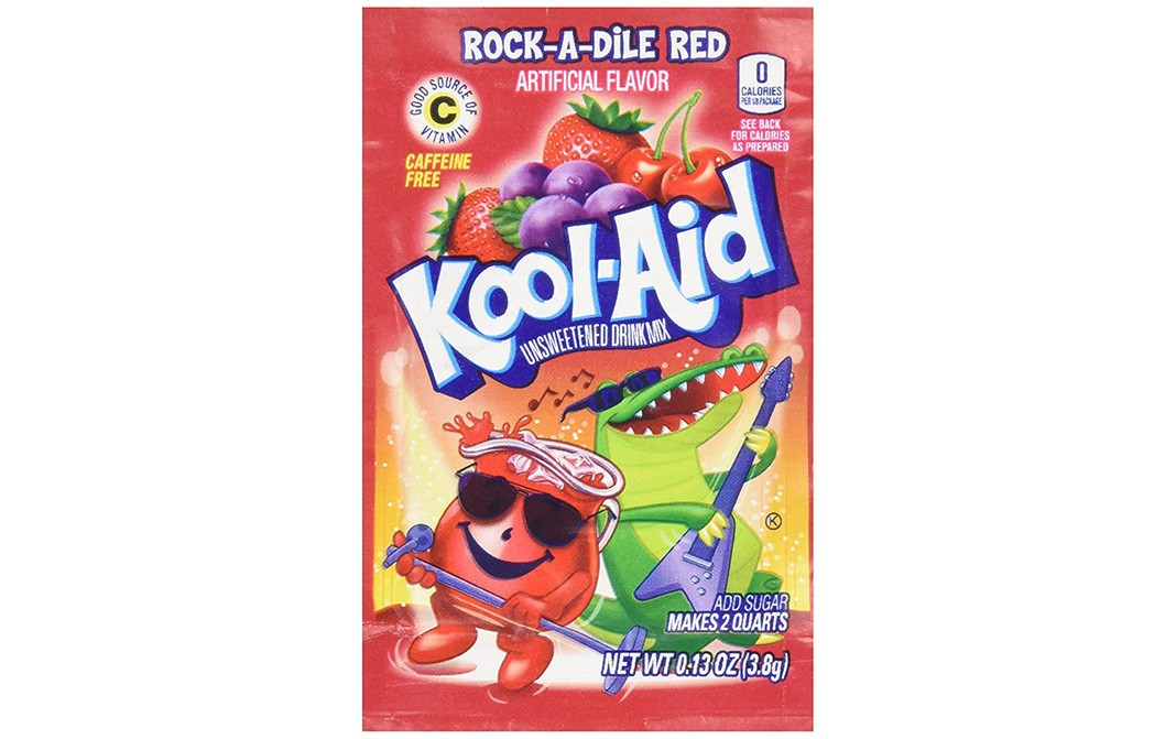 Kool-Aid Rock-A-Dile Red Artificial Flavour   Pack  3.8 grams