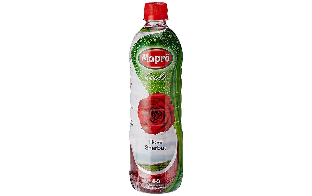 Mapro Coolz Rose Sharbat    Plastic Bottle  750 millilitre