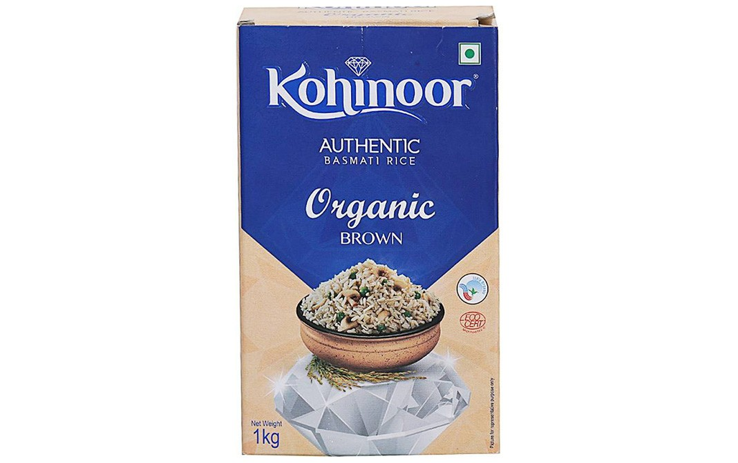 Kohinoor Authentic Basmati Rice Organic Brown   Box  1 kilogram