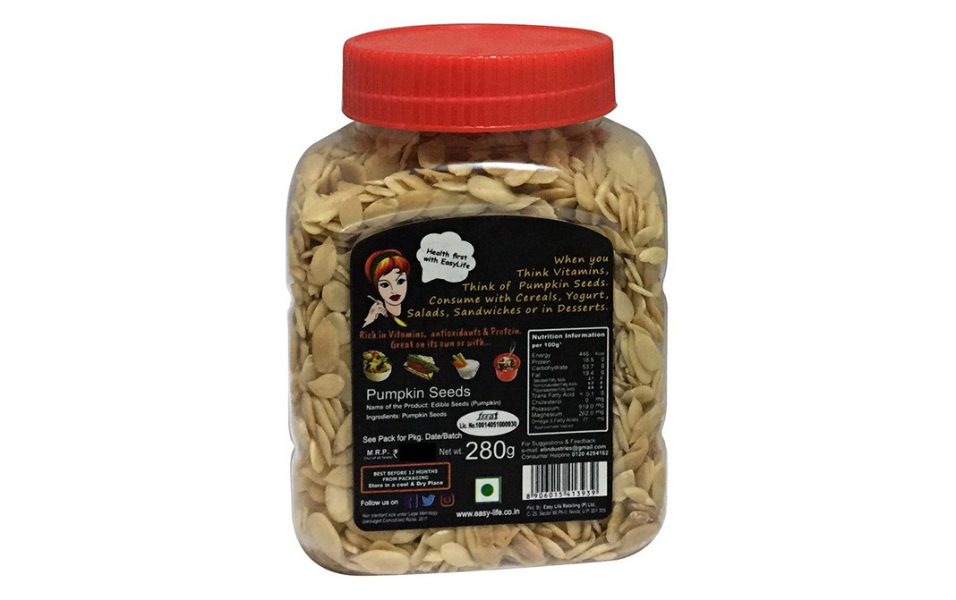 Easy Life Pumpkin Seeds    Plastic Jar  280 grams