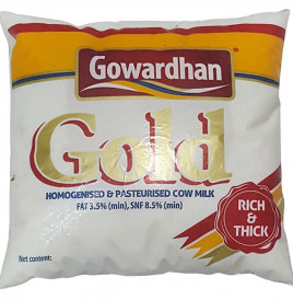 Gowardhan Gold Homogenised & Pasteurised Cow Milk (Rich & Thick)  Pouch  500 millilitre