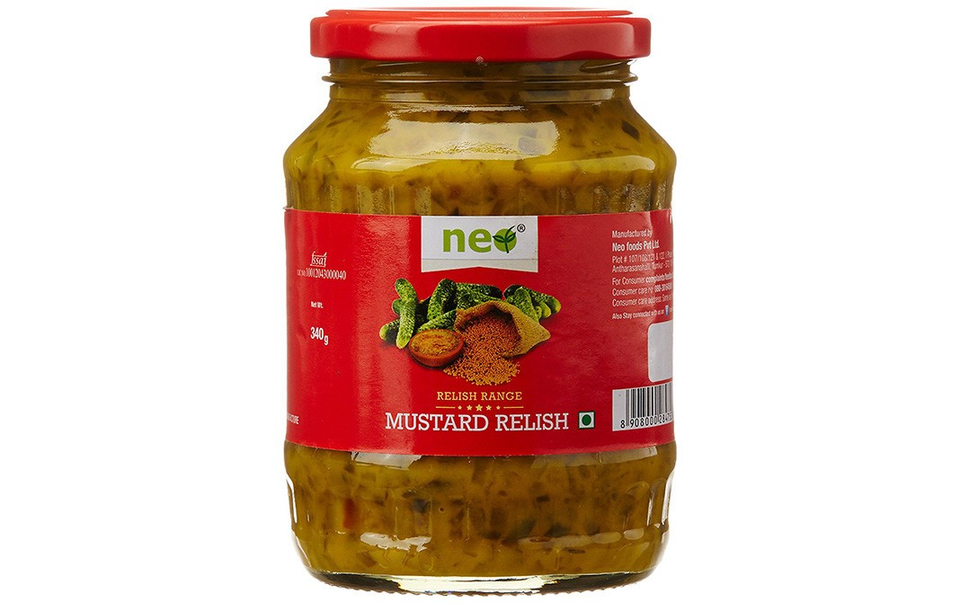 Neo Mustard Relish (Relish Range)    Glass Jar  340 grams
