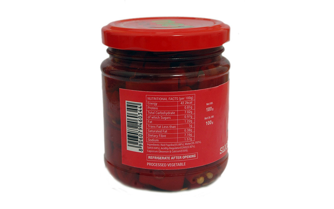 Neo Sliced Red Paprika    Glass Jar  180 grams
