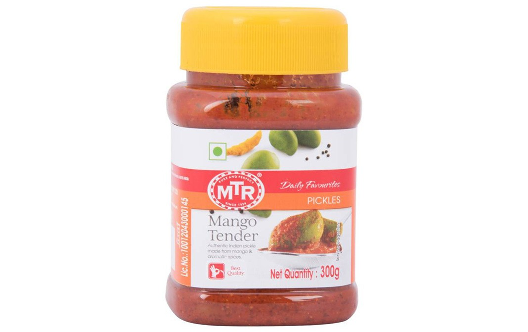MTR Mango Tender Pickles   Plastic Jar  300 grams
