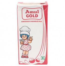 Amul Gold Homogenised Standardised Milk  Tetra Pack  1 litre