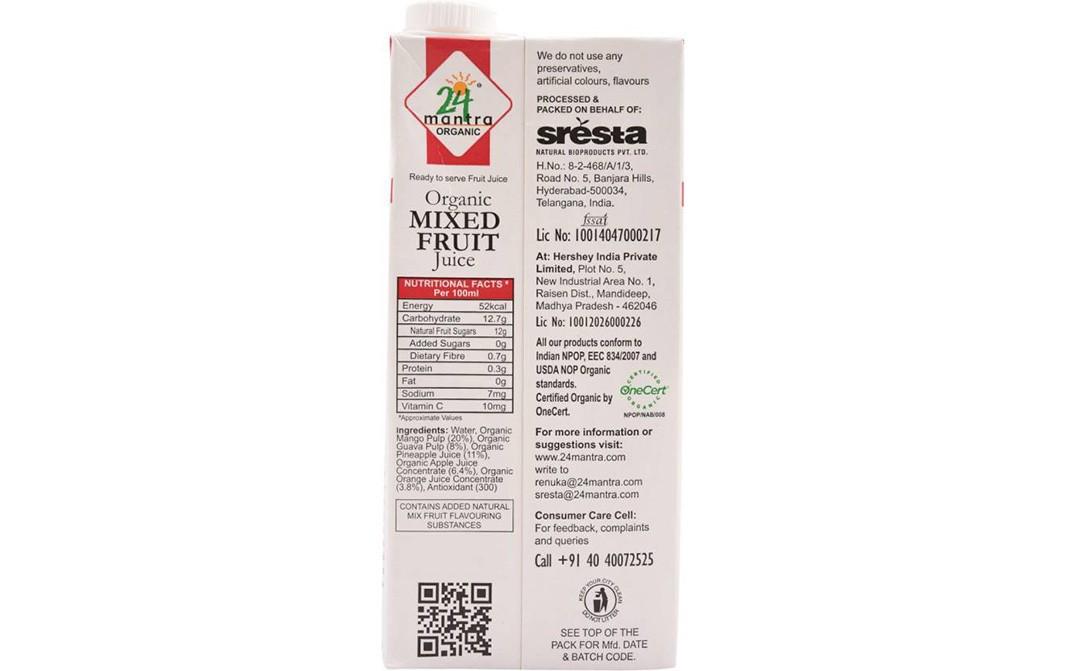 24 Mantra Organic Mixed Fruit Juice Tetra Pack 1 Litre