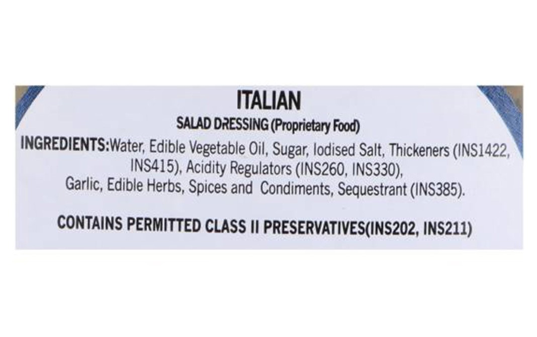 Cremica Italian Salad Dressing   Plastic Bottle  350 grams
