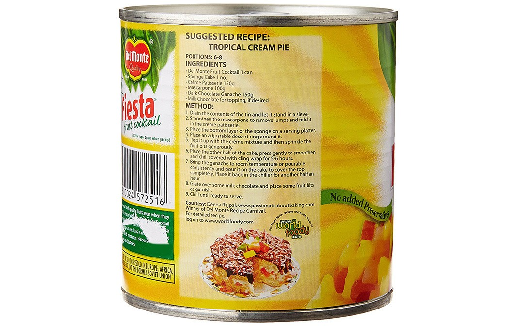Del Monte Fiesta Fruit Cocktail   Tin  439 grams