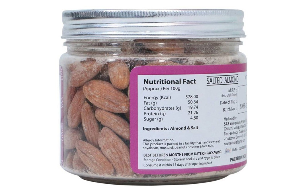 New Tree Salted Almond    Jar  200 grams