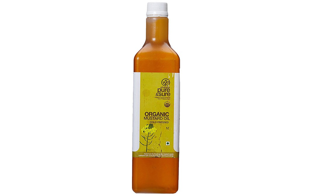 Pure & Sure Organic Mustard Oil -Cold Pressed   Bottle  1 litre