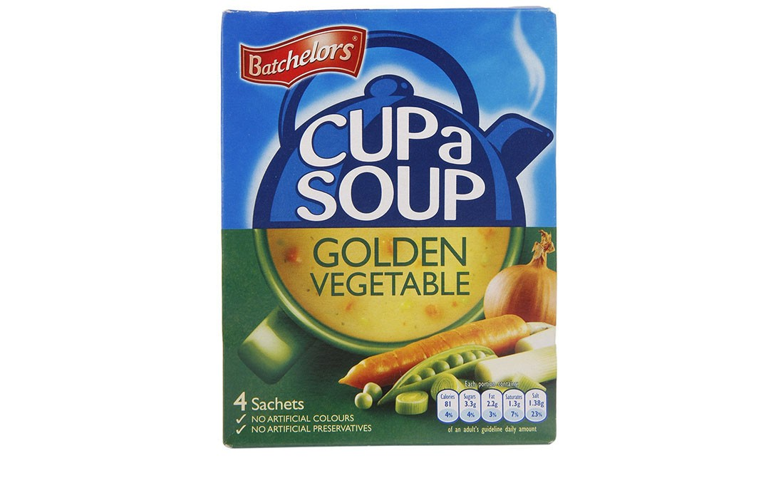 Batchelors Cup a Soup Golden Vegetable   Box  82 grams