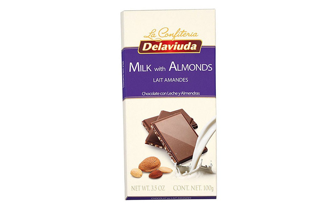 La Confiteria Delaviuda Milk with Almonds Lait Amandes   Box  100 grams