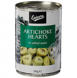 Epicure Artichoke Hearts In Salted Water  Tin  390 grams