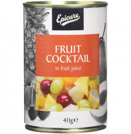 Epicure Fruit Cocktail In Fruit Juice  Tin  411 grams