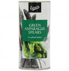 Epicure Green Asparagus Spears In Salted Water  Tin  425 grams