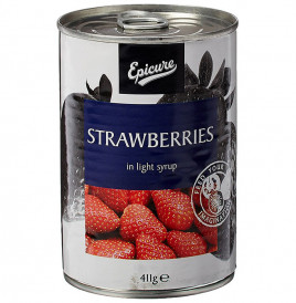 Epicure Strawberries In Light Syrup  Tin  411 grams