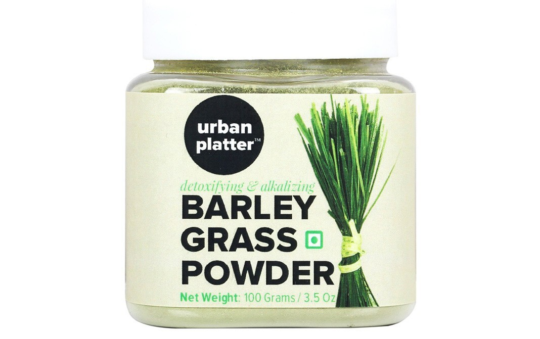 Urban Platter Barley Grass Powder    Glass Jar  100 grams