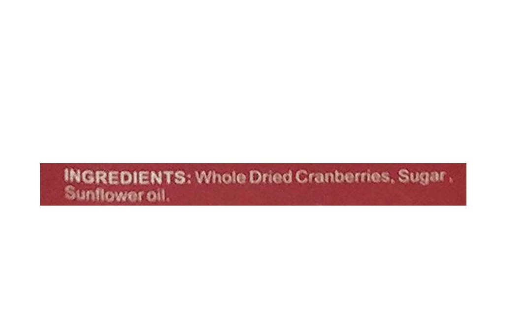 True Elements Whole Dried Cranberries    Glass Jar  150 grams