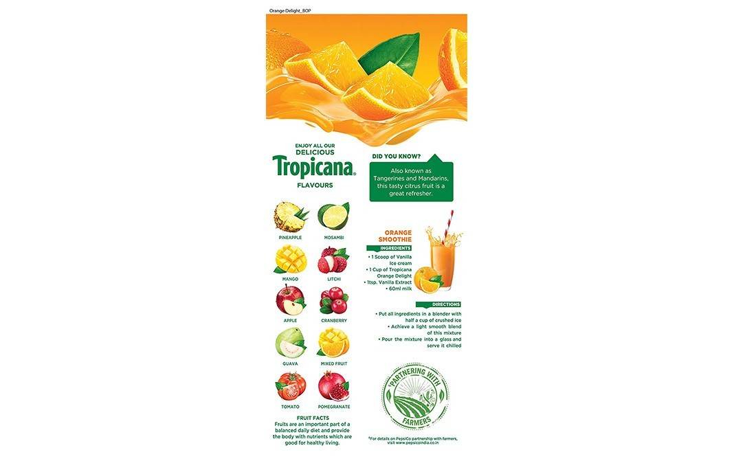 Tropicana Orange Delight    Tetra Pack  1000 millilitre