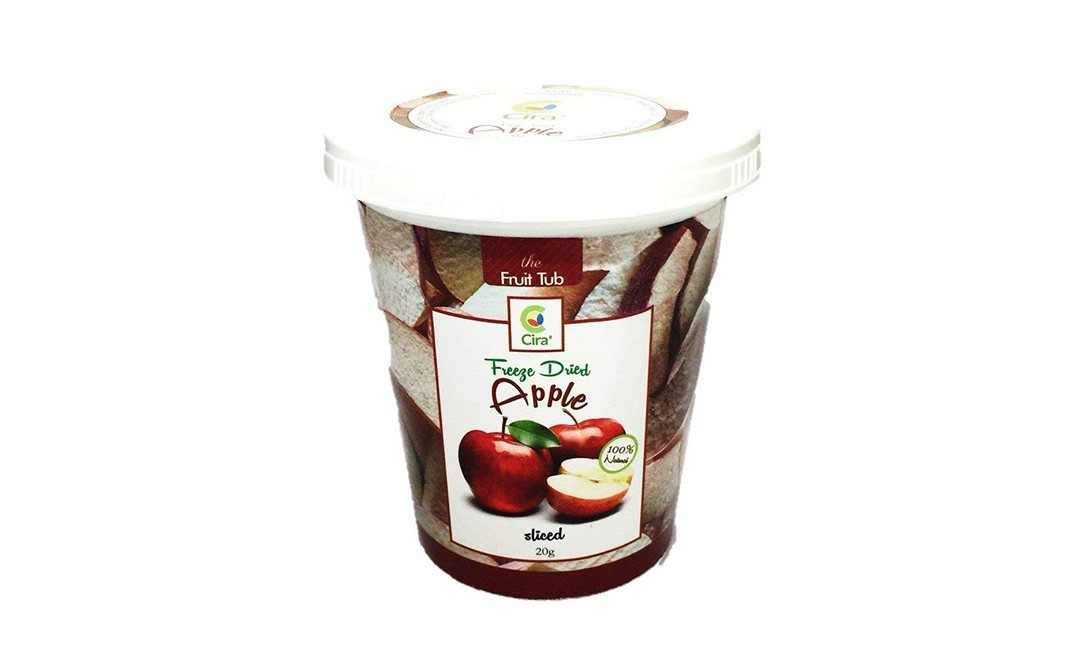 Cira Freeze Dried Apple Sliced   Tub  20 grams