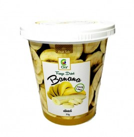 Cira Freeze Dried Banana Sliced  Tub  30 grams