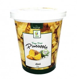 Cira Freeze Dried Pineapple Sliced  Tub  20 grams