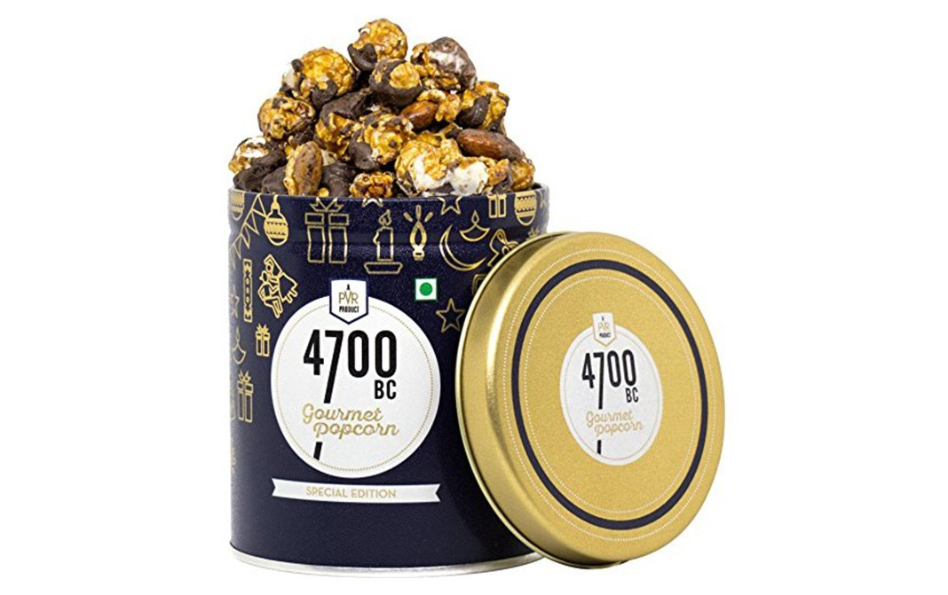 4700BC Mocha Walnut Chocolate Popcorn   Tin  375 grams