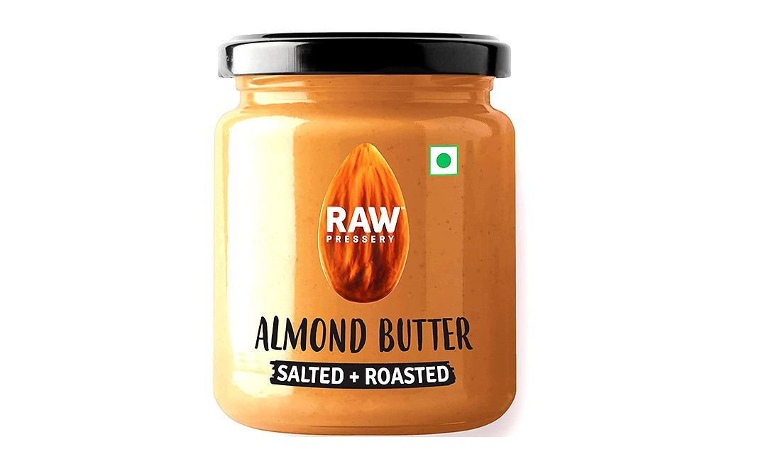 Raw Pressery Almond Butter, Salted + Roasted   Glass Jar  200 grams