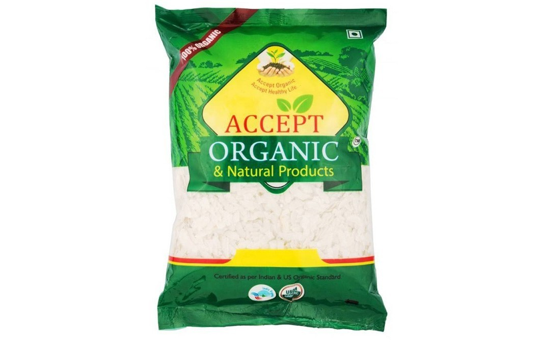 Accept Organic Chivda Poha (Long Grain,Unpolished)   Pack  500 grams