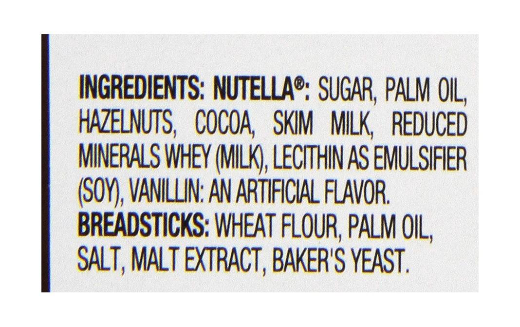 Nutella Hazelnut Spread + Breadsticks Plastic Jar 52 grams