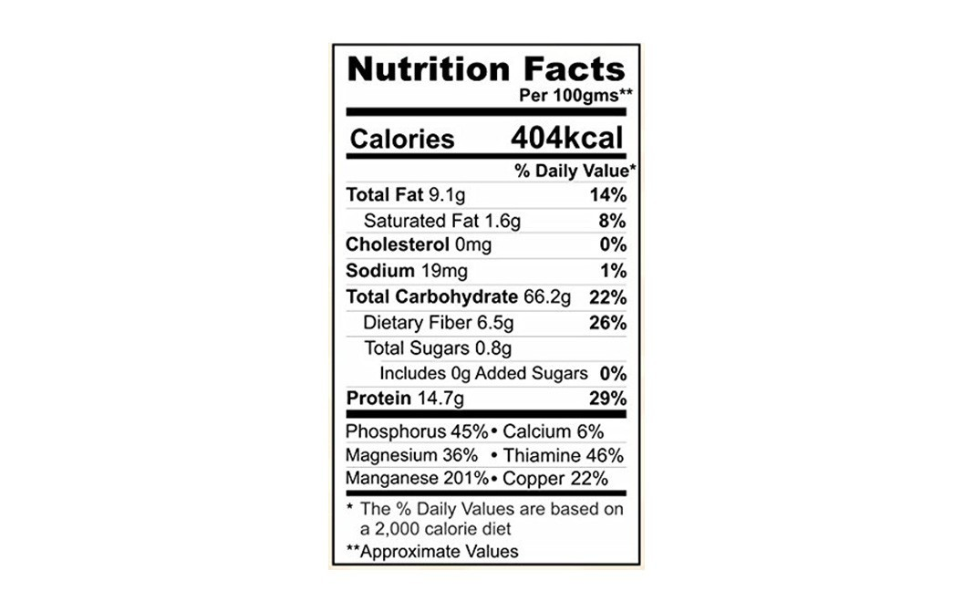 Agile Organic Oat Flour Pack 500 Grams