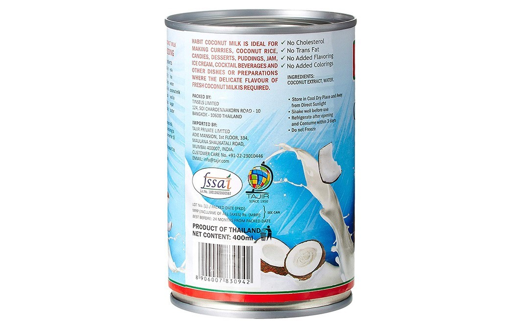 Habit Coconut Milk    Tin  400 millilitre
