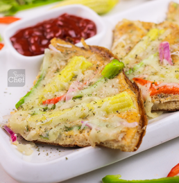 Bell Peppers Baby Corn Eggizza Recipe