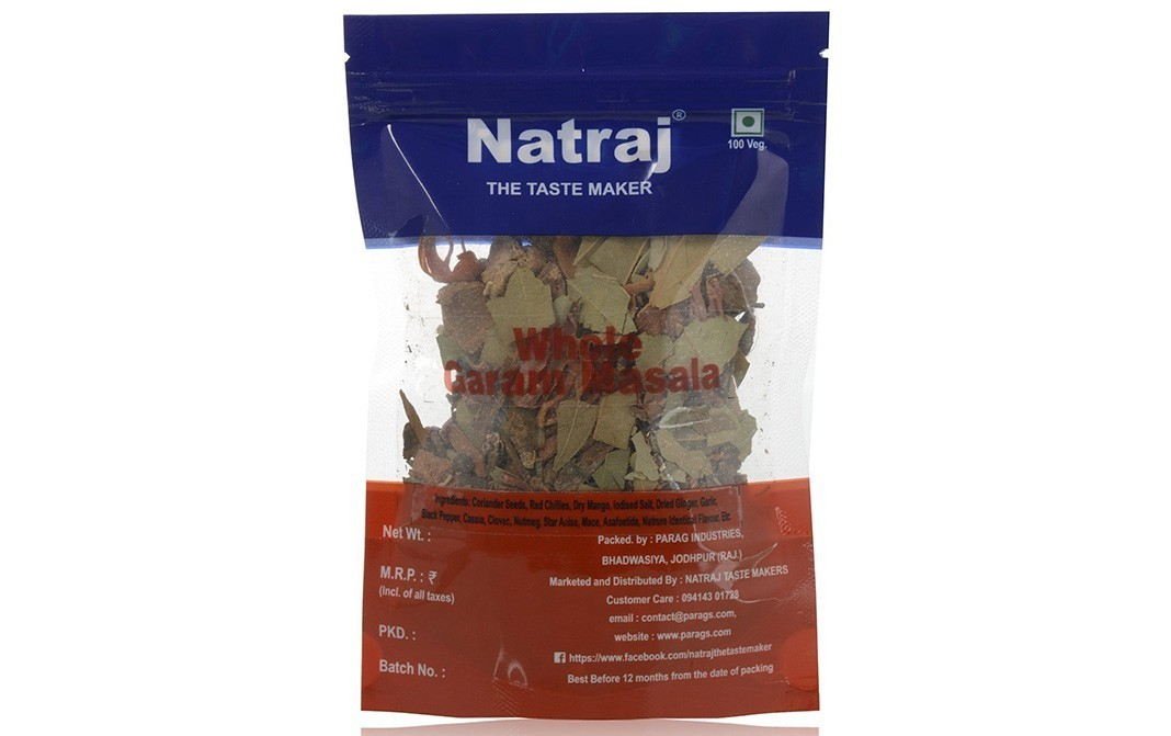 Natraj Whole Garam Masala    Pack  100 grams