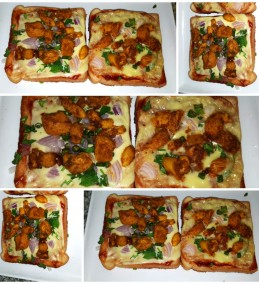 Chicken bread pizza Recipe