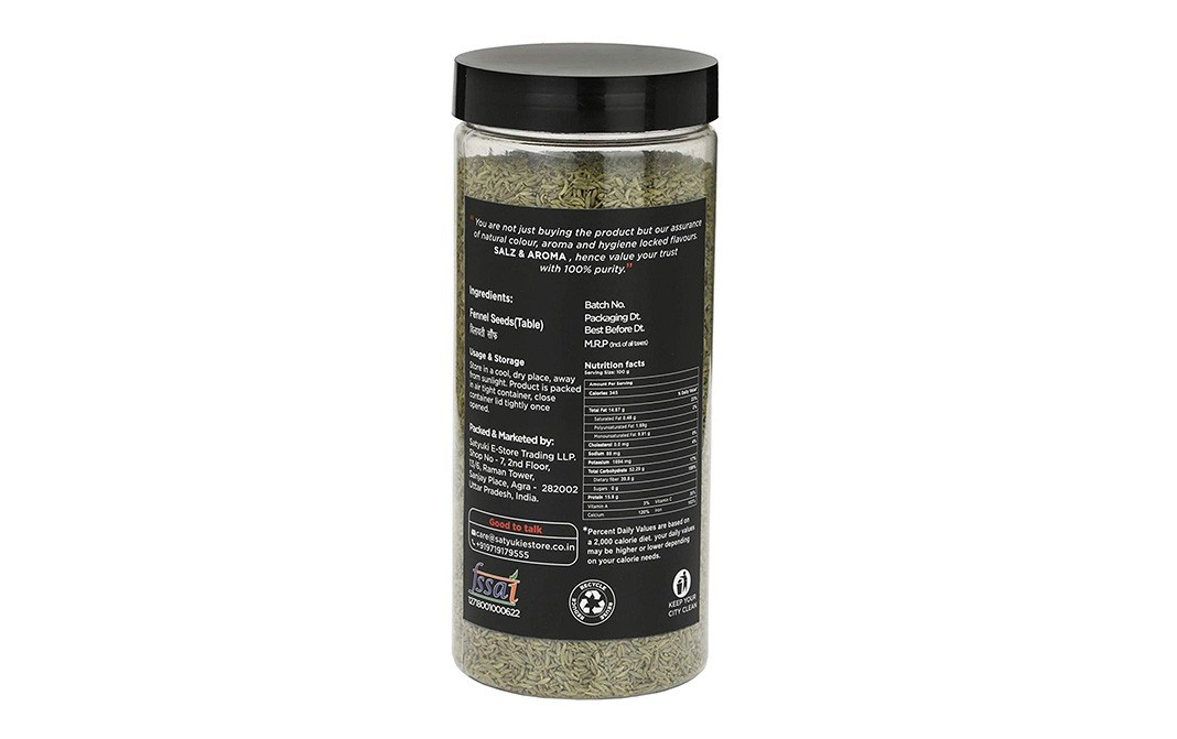 Salz & Aroma Fennel Seeds (Table)    Plastic Bottle  500 grams