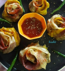 Veg Gulabi Momo Recipe