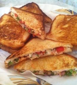 Paneer Capsicum Cheese Sandwich Recipes