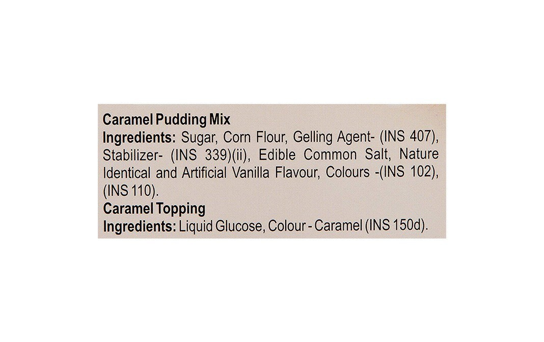 Weikfield Caramel Pudding Mix, with Topping Inside   Box  65 grams