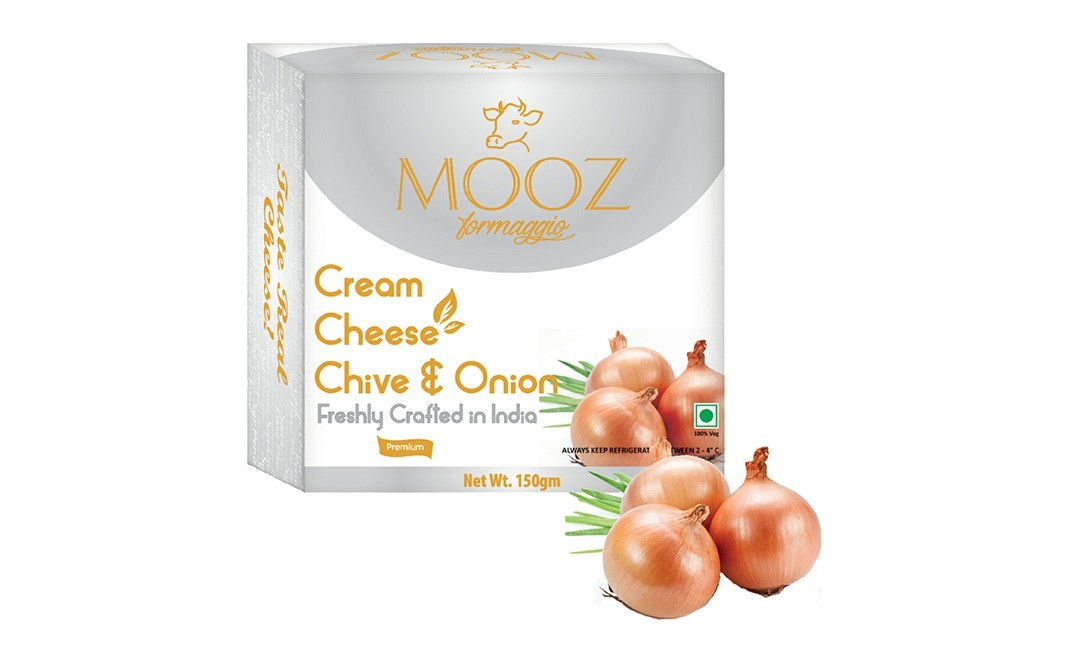 Mooz Cream Cheese Chive & Onion    Box  150 grams