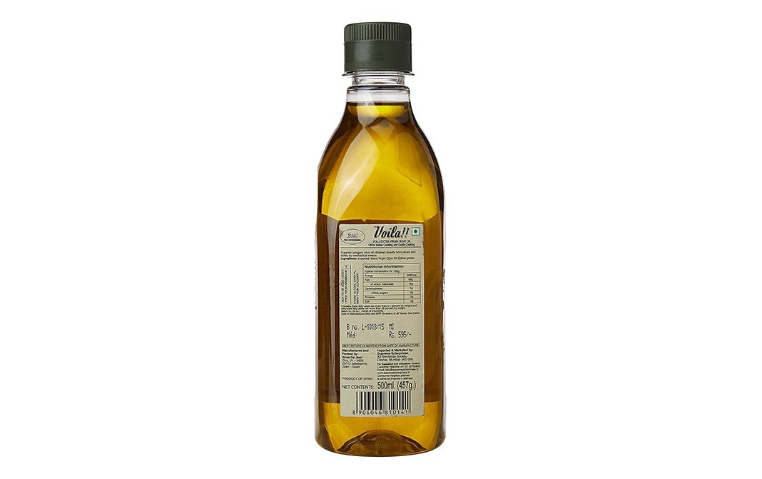 Voila Extra Virgin Olive Oil    Plastic Bottle  500 millilitre