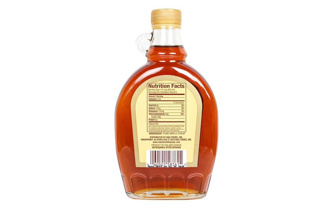 MacDonald's Pure Maple Syrup    Glass Bottle  370 millilitre