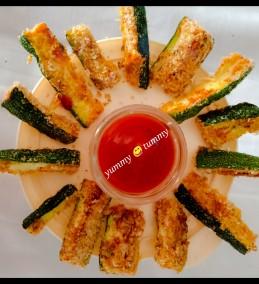 Baked Zucchini Fries (Vegan and Gluten Free) Recipe
